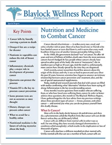 Nutrition and Medicine to Combat Cancer